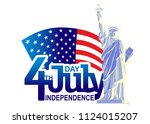 4th of july  independence day... | Shutterstock .eps vector #1124015207