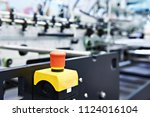 conveyor start and stop button... | Shutterstock . vector #1124016104