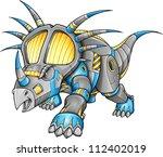 robot machine triceratops... | Shutterstock .eps vector #112402019