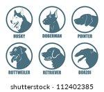 Dog Breeds Labels   Vector...