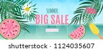 abstract summer sale background ... | Shutterstock .eps vector #1124035607