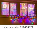 Windows Decorated And Lighted...