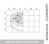 finish the simmetry picture... | Shutterstock .eps vector #1124036597