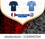 match playoffs. game between... | Shutterstock .eps vector #1124043764
