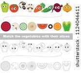vegetable slices set to find... | Shutterstock .eps vector #1124046611