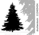 christmas tree vector with... | Shutterstock .eps vector #112405454