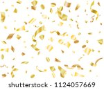 gold yellow on white glowing... | Shutterstock .eps vector #1124057669