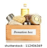 donation box with food isolated ... | Shutterstock . vector #112406369