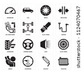set of 16 icons such as... | Shutterstock .eps vector #1124070467