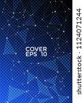 trendy blue black report... | Shutterstock .eps vector #1124071244