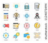 set of 16 icons such as ledger  ...