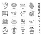 set of 16 icons such as food...