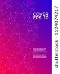 vector report template. global... | Shutterstock .eps vector #1124074217