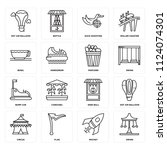 set of 16 icons such as swing ...