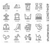 set of 16 icons such as game ...