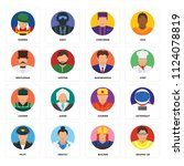 set of 16 icons such as graphic ...