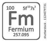 periodic table element fermium...   Shutterstock .eps vector #1124079731