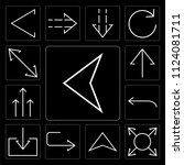 set of 13 simple editable icons ... | Shutterstock .eps vector #1124081711