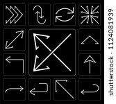 set of 13 simple editable icons ... | Shutterstock .eps vector #1124081939
