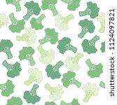 seamless green hand drawn... | Shutterstock .eps vector #1124097821