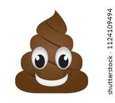 happy poop emoji | Shutterstock .eps vector #1124109494
