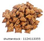 mound of crunchy  salted peanut ...   Shutterstock . vector #1124113355
