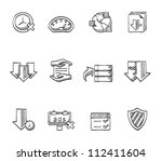 file sharing icon series in... | Shutterstock .eps vector #112411604