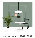 vector interior design... | Shutterstock .eps vector #1124118131