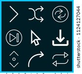 set of 9 arrows outline icons... | Shutterstock .eps vector #1124127044