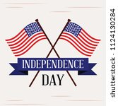 happy independence day | Shutterstock .eps vector #1124130284