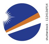 simple vector button flag  ... | Shutterstock .eps vector #1124136914