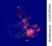 abstract vector background dot... | Shutterstock .eps vector #1124145341