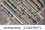 aerial top view natural gas... | Shutterstock . vector #1124159471