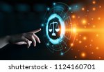 labor law lawyer legal business ... | Shutterstock . vector #1124160701