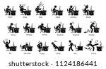 gamer reactions  feelings  and...   Shutterstock .eps vector #1124186441