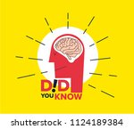 did you know illustration.... | Shutterstock .eps vector #1124189384