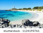 summer day at pinky beach and... | Shutterstock . vector #1124193761