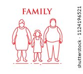 family. mom  dad and daughter.... | Shutterstock .eps vector #1124196521