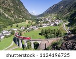 bernina express  viaduct of... | Shutterstock . vector #1124196725