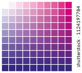cmyk color chart to use in... | Shutterstock .eps vector #1124197784