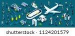 isometric large set of... | Shutterstock .eps vector #1124201579
