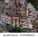 panorama images of hong kong... | Shutterstock . vector #1124205611
