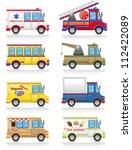 car icon set vector... | Shutterstock .eps vector #112422089