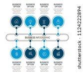 modern infographic choice...   Shutterstock .eps vector #1124222894