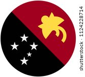 circular flag of papua new... | Shutterstock .eps vector #1124228714
