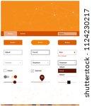 light orange vector style guide ...