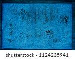 grunge ultra blue linen fabric... | Shutterstock . vector #1124235941