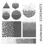 set of dissolved filled square... | Shutterstock .eps vector #1124244371
