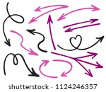 hand drawn diagram arrow icons... | Shutterstock .eps vector #1124246357