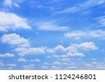 sky blue cloudy  | Shutterstock . vector #1124246801